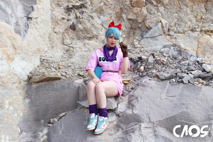 Bulma from Dragon Ball Cosplay