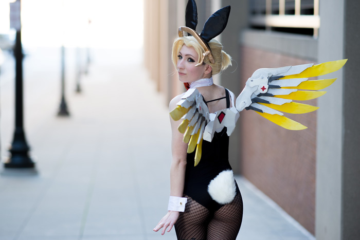 Playboy Bunny Mercy from Overwatch Cosplay