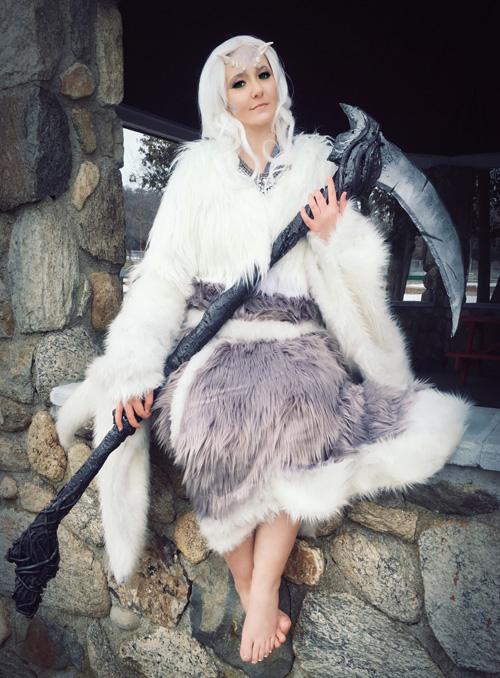 Crossbreed Priscilla from Dark Souls Cosplay