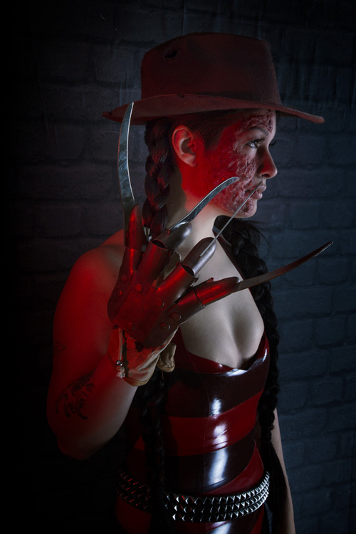 Freddy Krueger Latex Cosplay