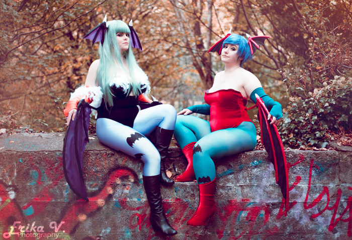Morrigan & Lilith from Darkstalkers Cosplay