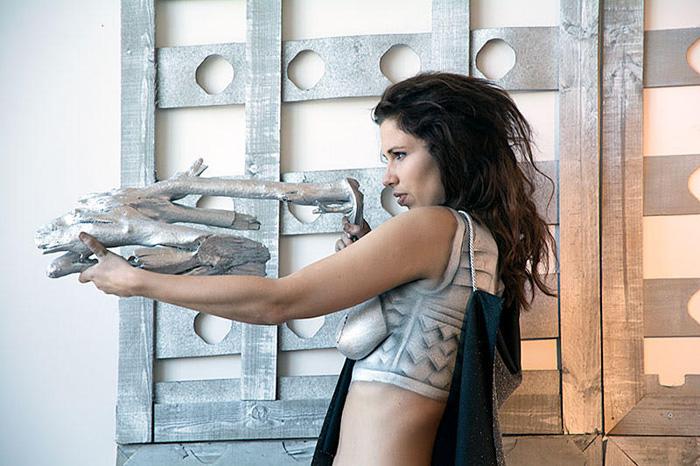 Barbarella Body Paint Photoshoot