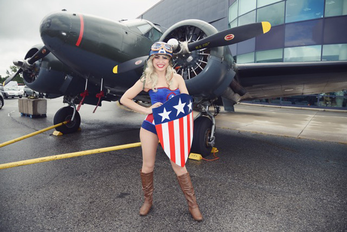 Captain America Corset Cosplay