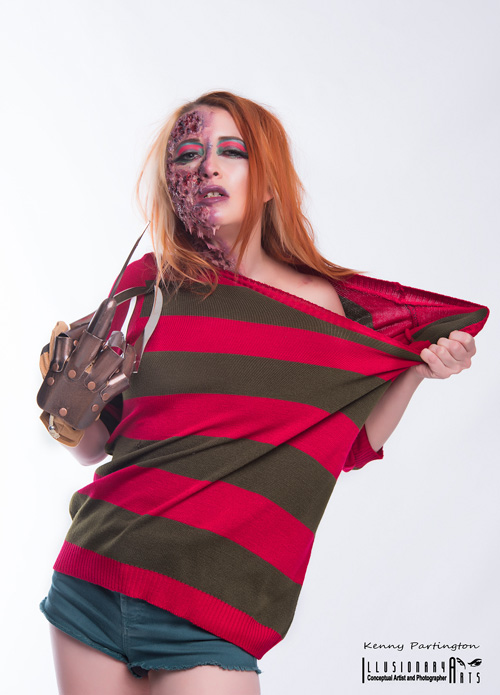 Genderbent Freddy Krueger Cosplay