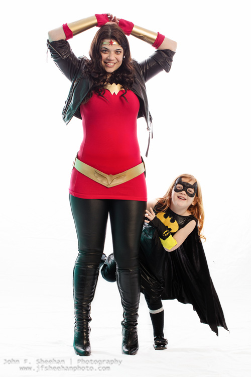 Wonder Woman & Batgirl Mother Daughter Cosplay