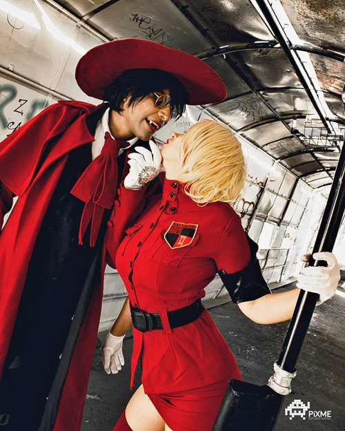 Alucard and Ser�s Victoria from Hellsing Cosplay