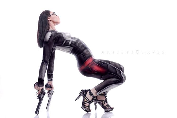 Baroness from G.I. Joe Body Paint