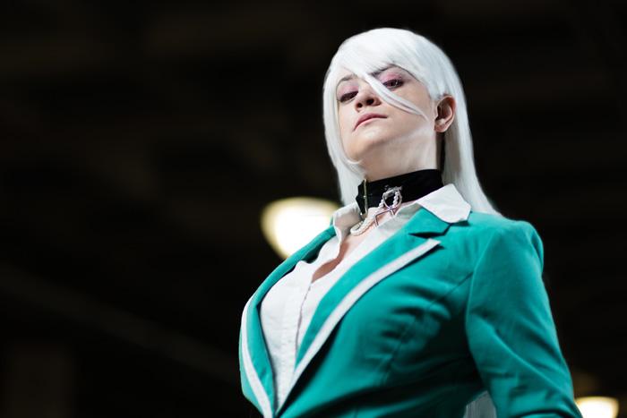 Moka Akashiya from Rosario + Vampire Cosplay