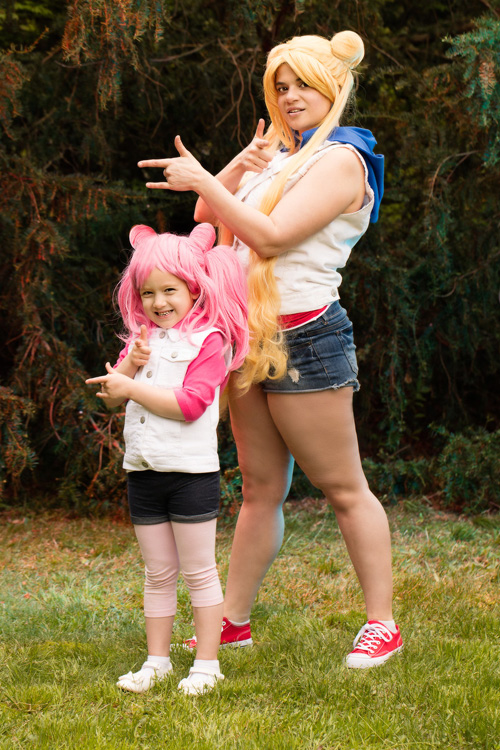 Sailor Moon & Sailor Chibi Moon Cosplay