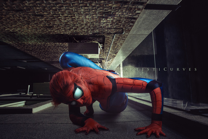 Spider-Man Body Paint