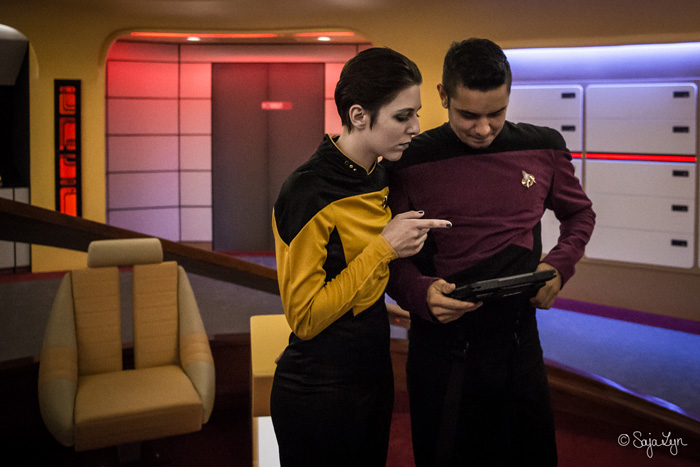 Data from Star Trek: The Next Generation Cosplay