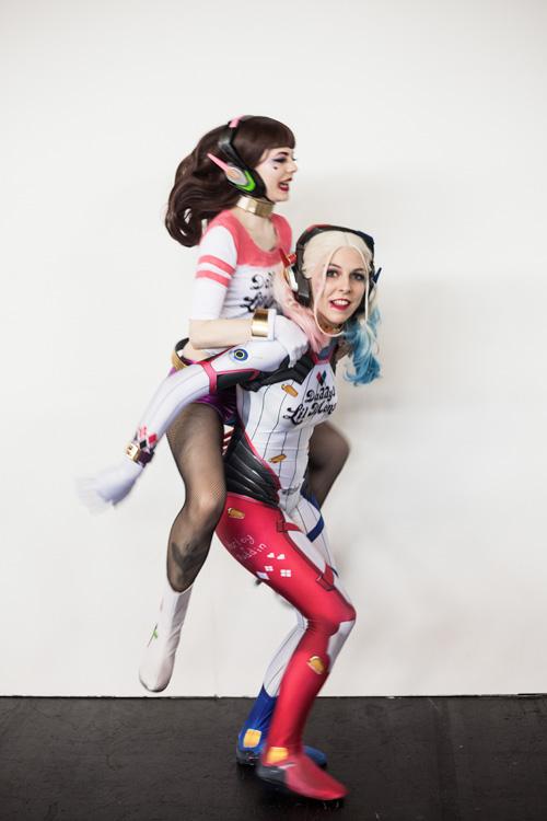 D.Va Harley Quinn Mashup Cosplays
