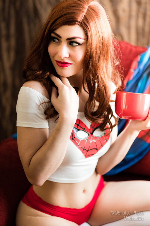 Mary Jane Watson from Spider-Man Cosplay