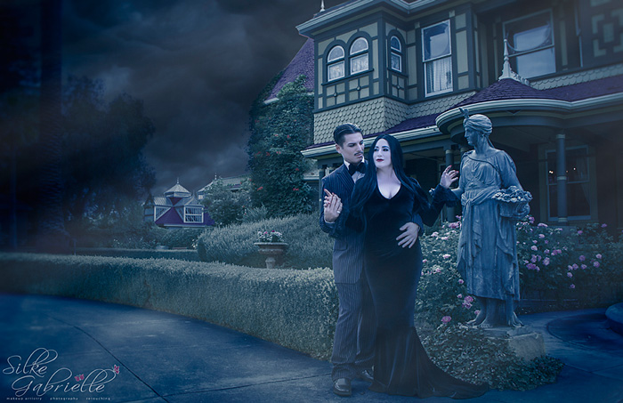 Morticia & Gomez from The Addams Family Cosplay