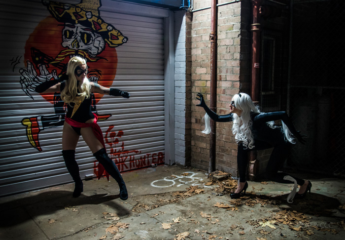 Black Cat & Ms. Marvel Cosplay