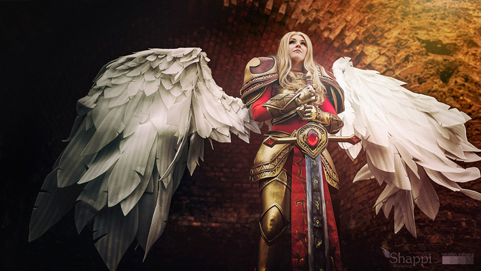Unmasked Kayle from League of Legends Cosplay