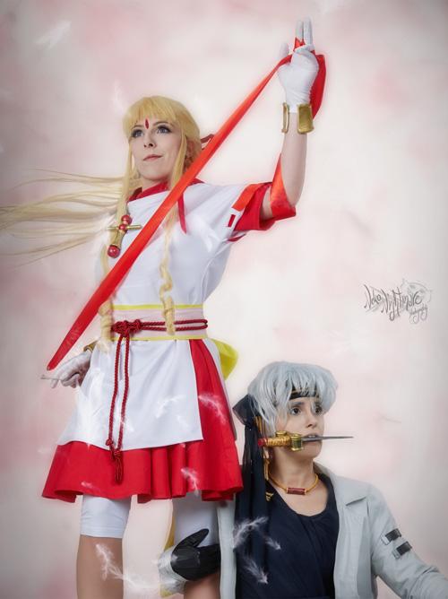 Kamikaze Kaito Jeanne and Sindbad Cosplay