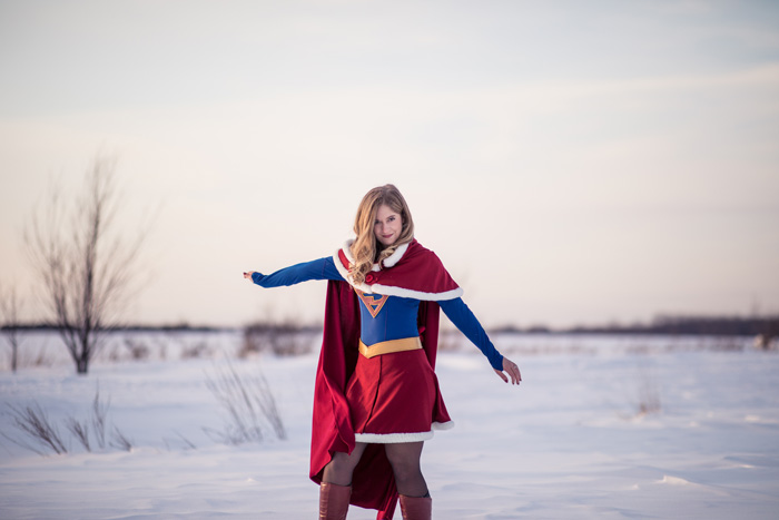 Christmas Supergirl Cosplay