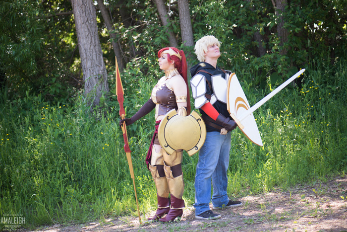 Pyrrha and Jaune from RWBY Cosplay