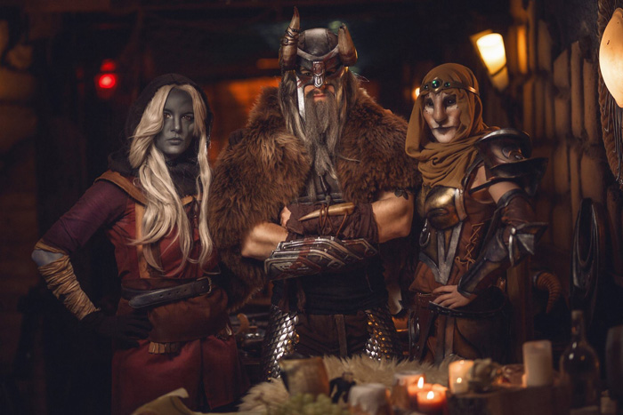 The Elder Scrolls Tavern Group Cosplay