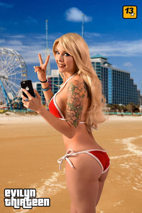 Bikini Girl from Grand Theft Auto V Photoshoot