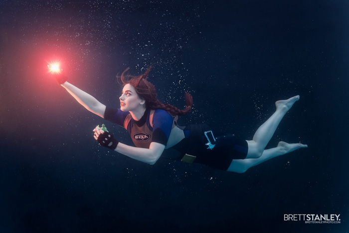 Underwater Lara Croft Cosplay