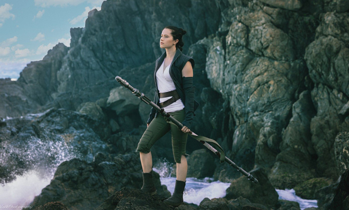 Rey from Star Wars: The Last Jedi Cosplay