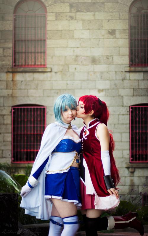 Kyoko Sakura & Sayaka Miki from Madoka Magica Cosplay