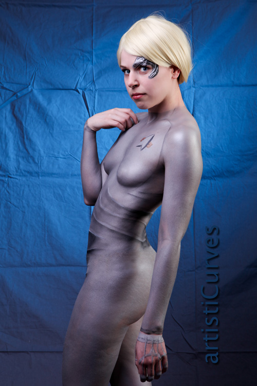 Seven of Nine from Star Trek: Voyager Body Paint