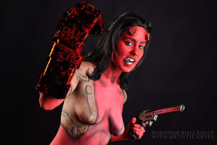 Hellgirl Body Paint