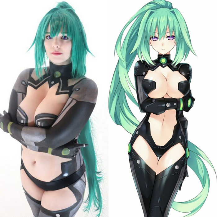 Goddess Green Heart Body Paint