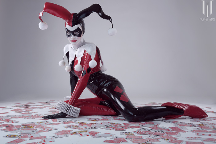 Harley Quinn Latex Cosplay