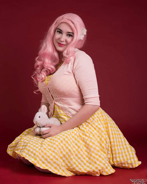 Pinup Fluttershy Cosplay