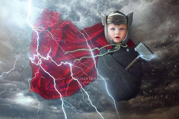 Adorable Superhero & Sci-Fi Newborn Photoshoots