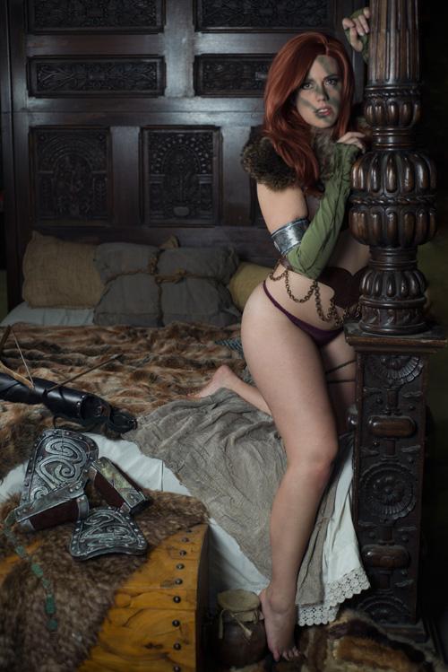 Aela from Skyrim Boudoir Photoshoot
