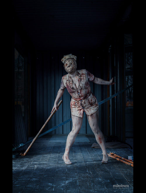 Bubble Head Nurse from Silent Hill 2 Cosplay