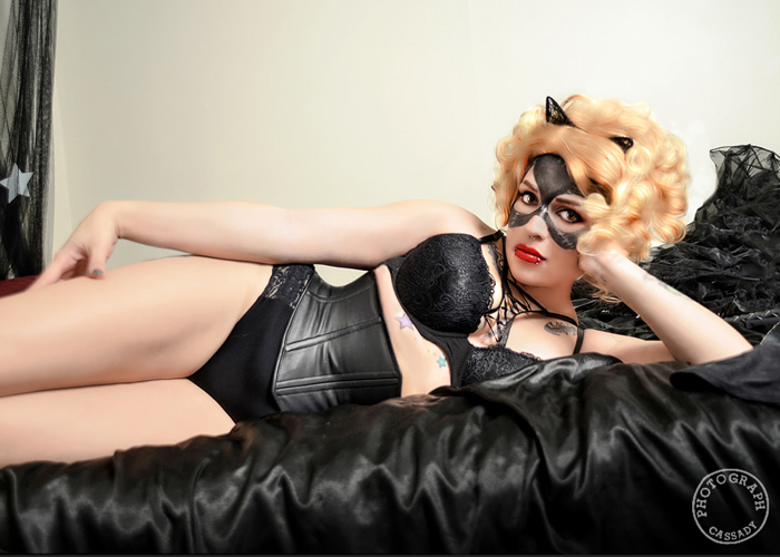 Catwoman Pinup Cosplay