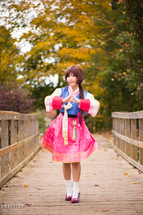 Hanbok D.Va from Overwatch Cosplay