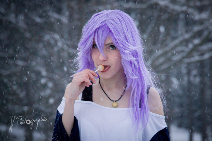 Mizore Shirayuki from Rosario+Vampire Cosplay