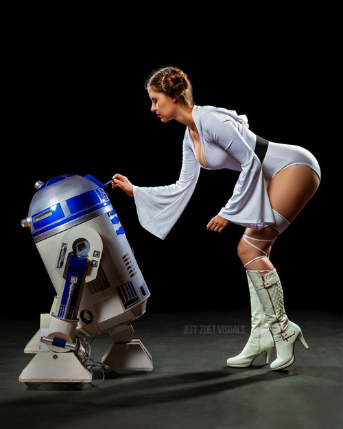 Princess Leia Pinup Cosplay