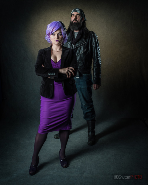Jessie Jones and The Purple Lady Genderswapped Cosplay