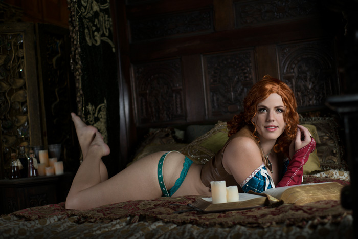 Triss from The Witcher Boudoir Photoshoot