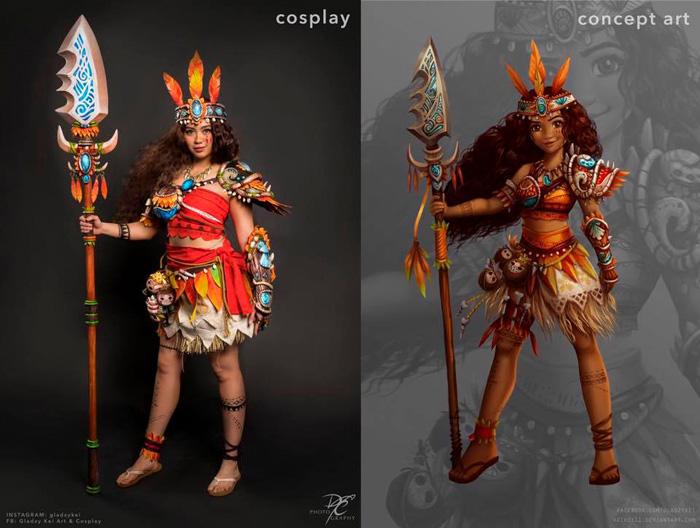 Warrior Moana Cosplay