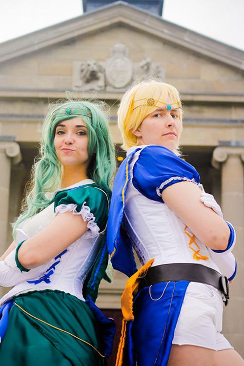 Steampunk Sailor Neptune & Uranus Cosplay