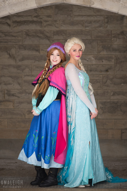 Anna and Elsa from Frozen Cosplay