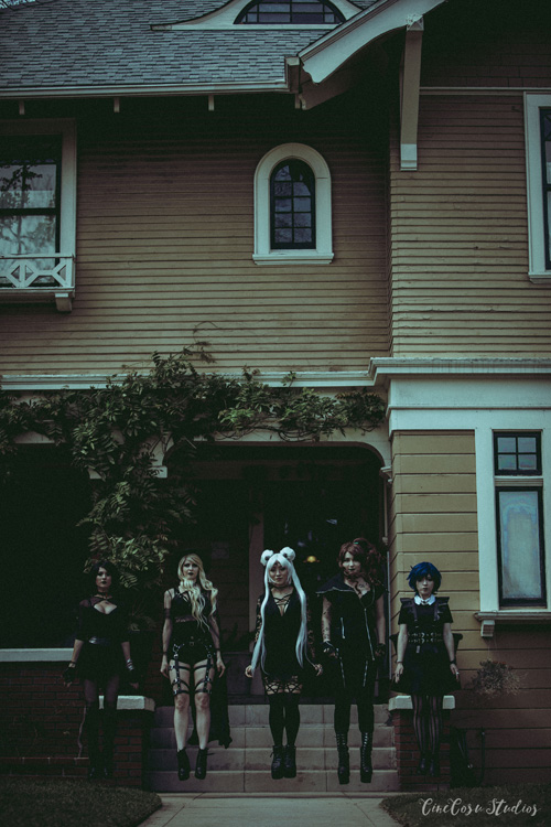 Goth Sailor Moon Fashion Photoshoot