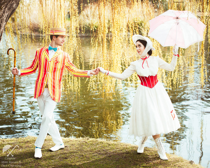 Mary Poppins and Bert Cosplay
