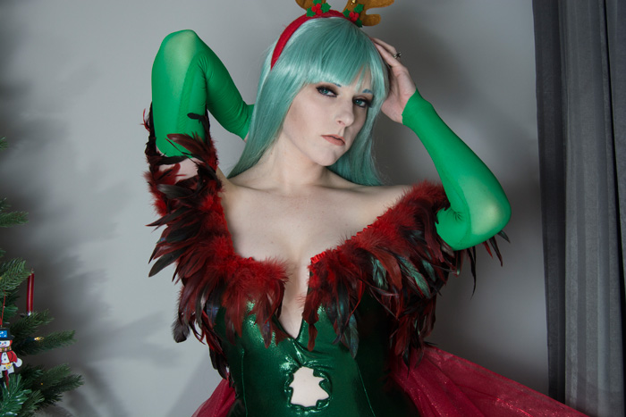 Christmas Morrigan from Darkstalkers Cosplay
