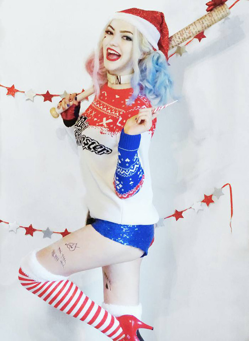 Christmas Suicide Squad Harley Quinn Cosplay