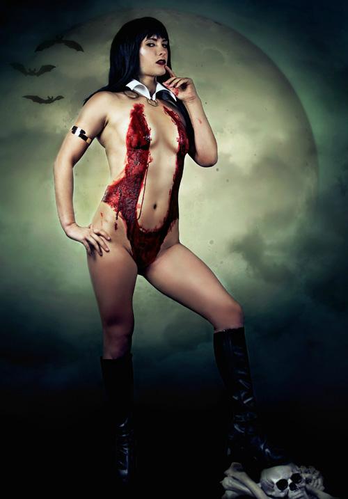 Vampirella Body Paint